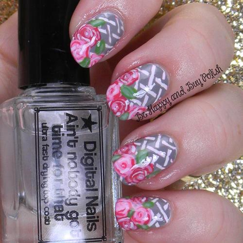 Basket of Roses Manicure Recreation