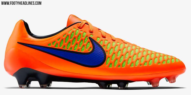 Nike Magista Opus Intense Heat Pack 2015 Cleat - Orange / Volt / Red /  Purple