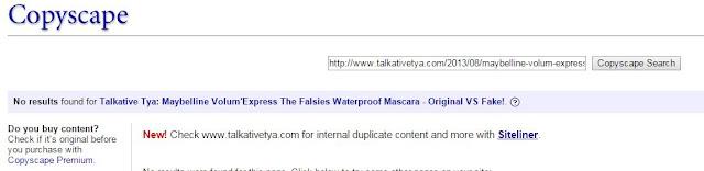 gunakan copyscape untuk mengecek plagiarisme