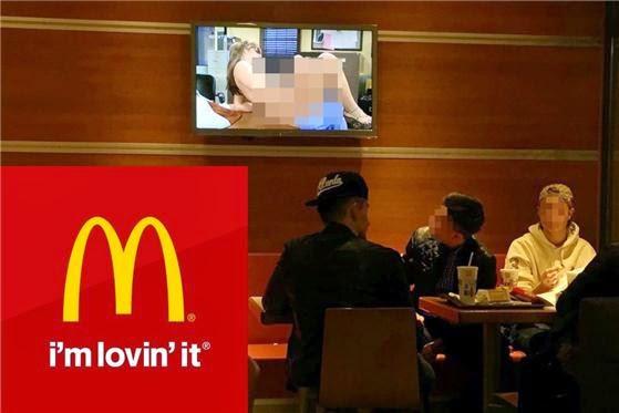 Restoran McDonald's kantoi siar video lucah kepada pelanggan