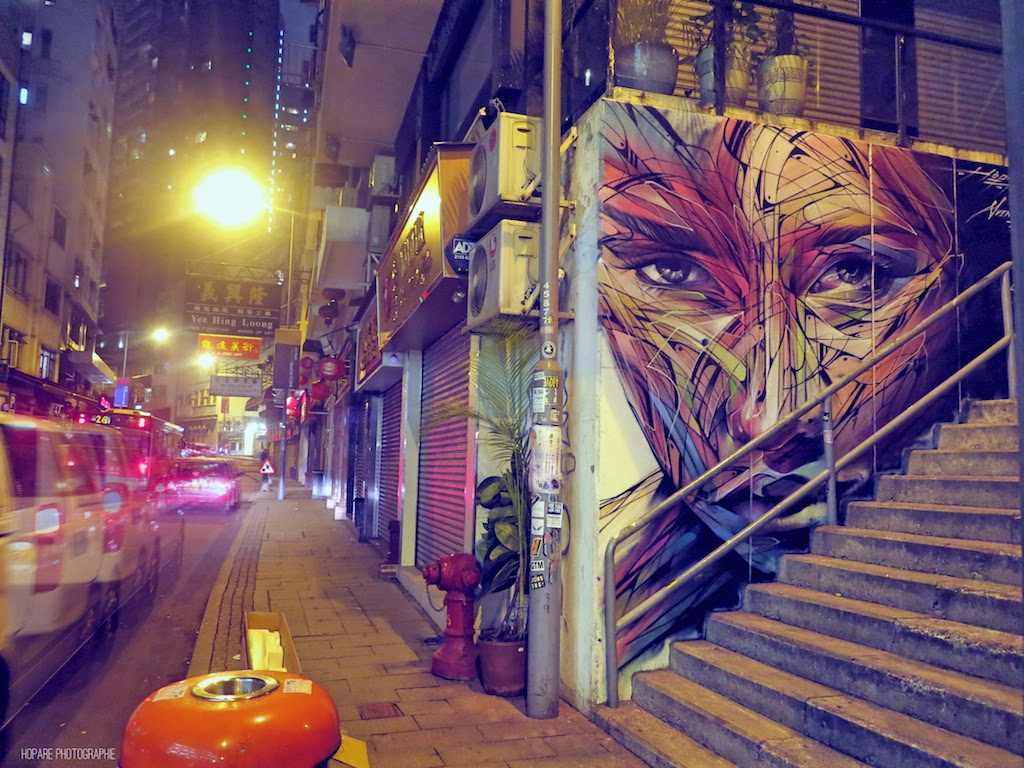 Our friend Hopare is back on the streets of Hong-Kong where he just finished working on a brand new piece.
