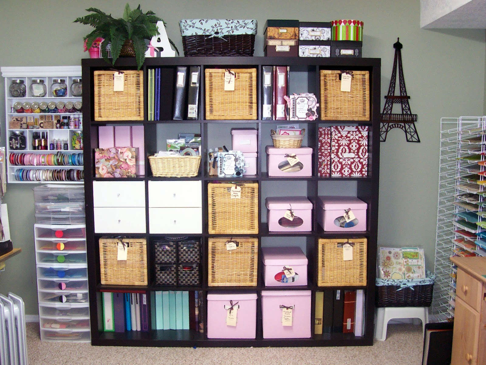 Ellabella designs creative scrapbook craft organizing Small room storage ideas ikea