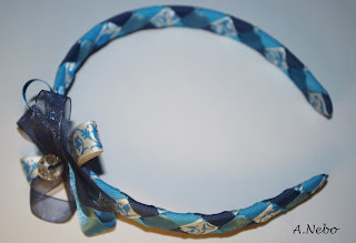 DIY blue headband