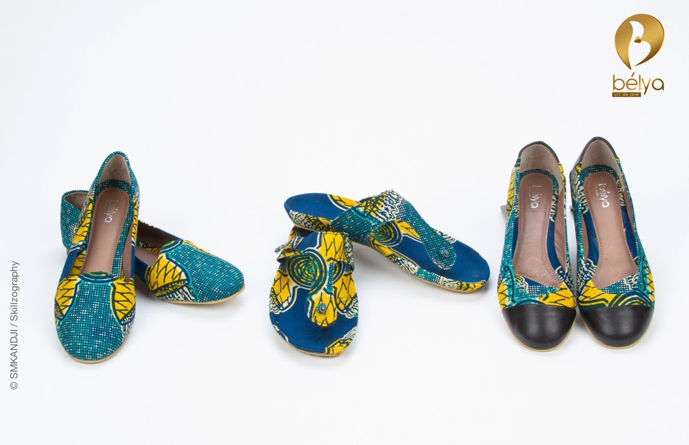 African made shoes Ankara Inspired