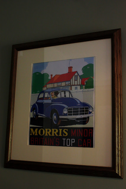 vintage advert for morris minor