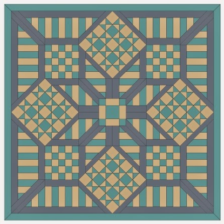 free quilt top pattern and templates for English paper piecing