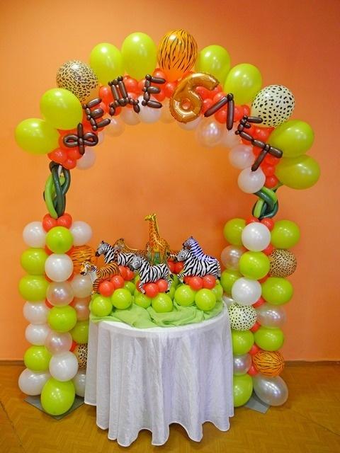 Decoración de Fiestas Infantiles de Animales de la Selva : Fiestas ...