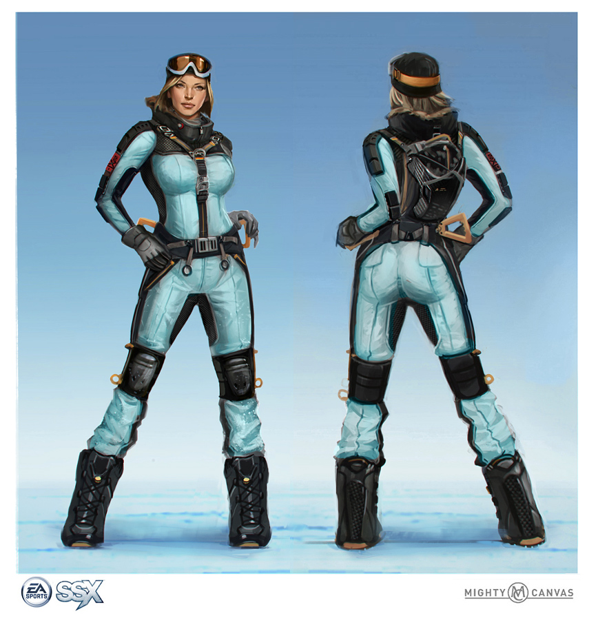 Andrew Domachowski Art\\Design: SSX: Characters