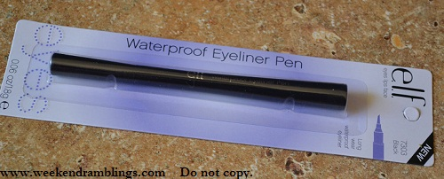 elf waterproof eyeliner pen black
