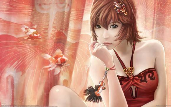CG Girls Wallpaper I Chen Lin Artwork 03