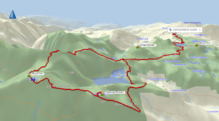 Castlecrag Mountain and Mount Frink Map and GPS Route