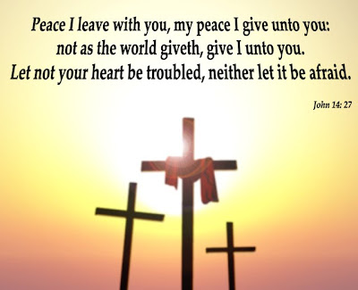 John 14:27 Cross Background