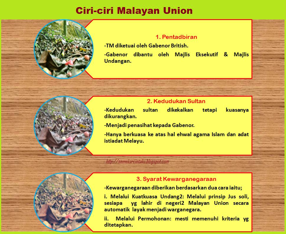 Blog Sejarah STPM Baharu: Semekar Cintaku : Malayan Union