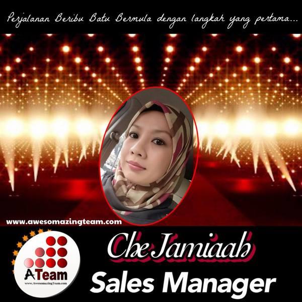 che jamiaah dinobatkan sebagai sales manager haio marketing