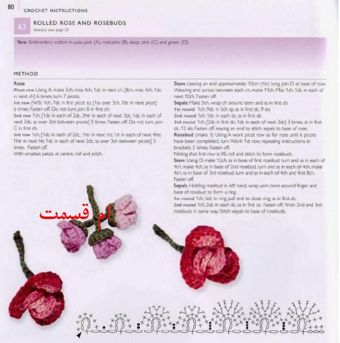 Вязаные розы крючком схемы с описанием розы