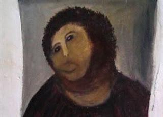 pintura Ecce Homo modificada en Borja