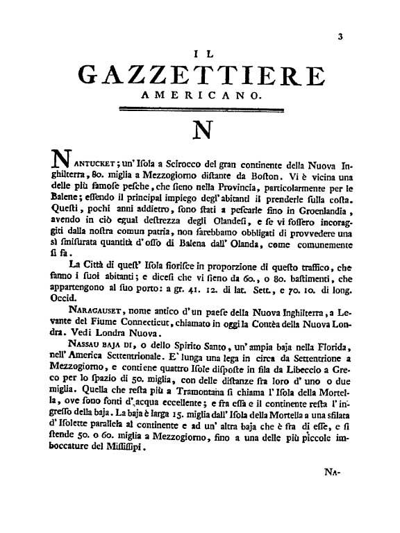 Gazzettiere Americano, Mario Coltellini printer, Livorno