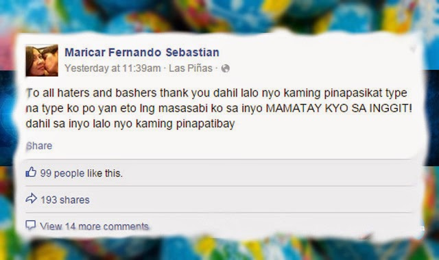 Maricar Sebastian Mother of Jam Confronts Bashers 'Mamatay Kayo sa Inggit' Message
