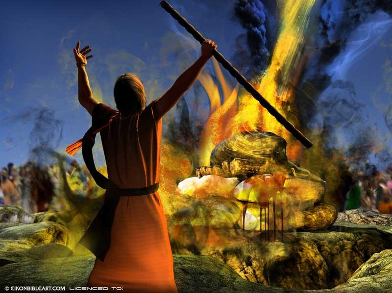 Elijah Prays For Fire Craft