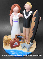 destination beach wedding cake topper
