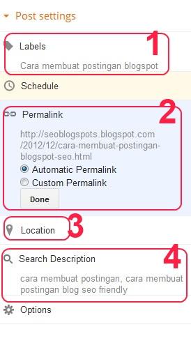cara membuat postingan blogspot