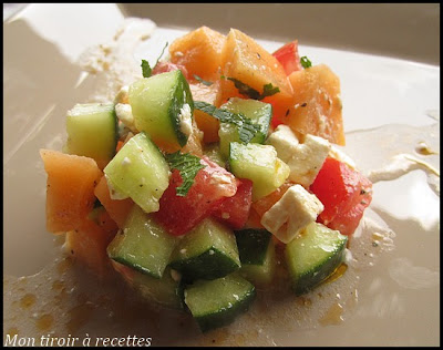 tartare de melon