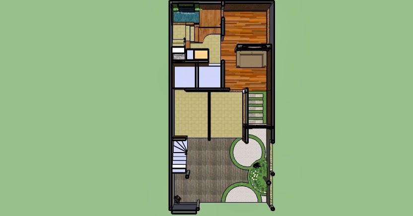 desain rumah di lahan sempit denah rumah sekaligus tempat