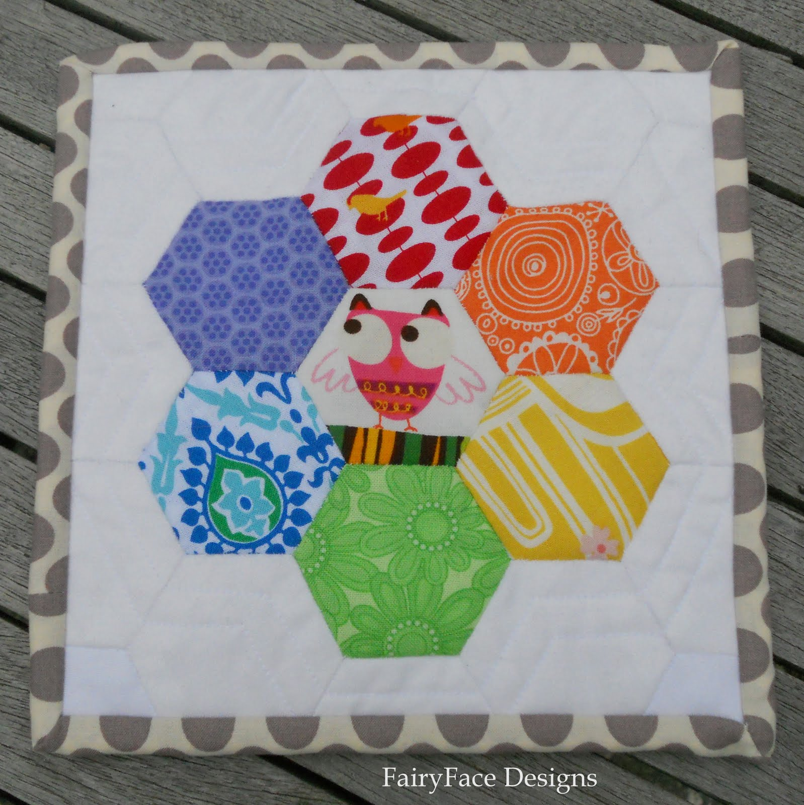 FairyFace Designs: Scrappy Rainbow Mug Rugs
