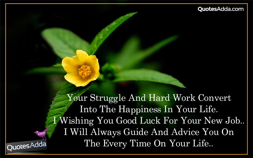 new job good luck quotations in english