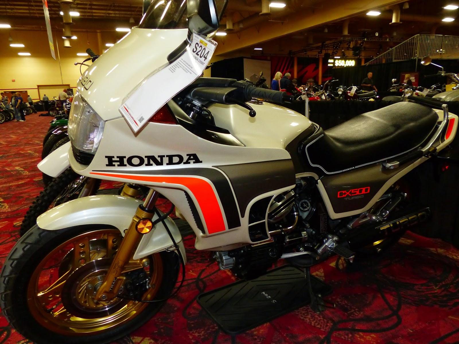 Oldmotodude 1982 honda cx500 turbo sold for 7 000 at the for Las vegas honda