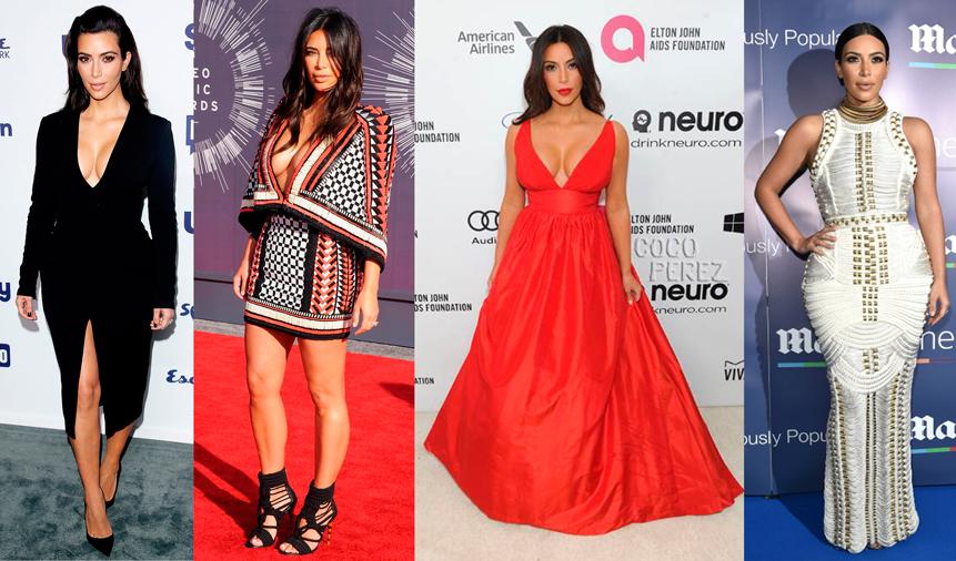 Estilo, look, famosas, vestido, Kim Kardashian