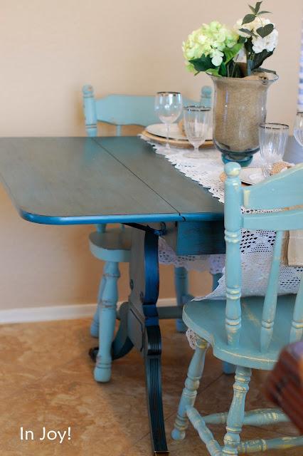 In Joy Antique Vintage Furniture Decor Teal Duncan
