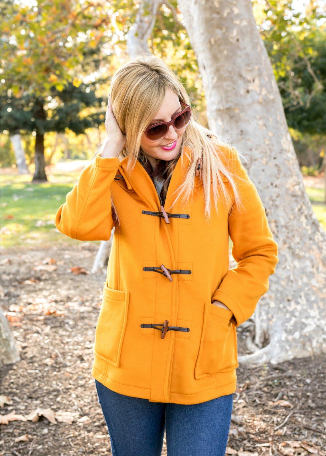 Orange Gloverall Duffle Coat