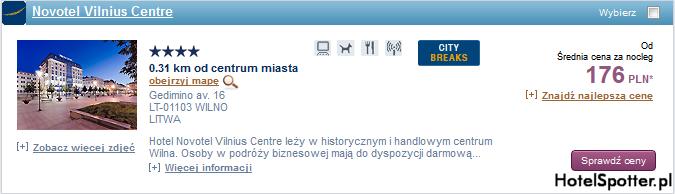 Tanie hotele Accor - Wilno Litwa
