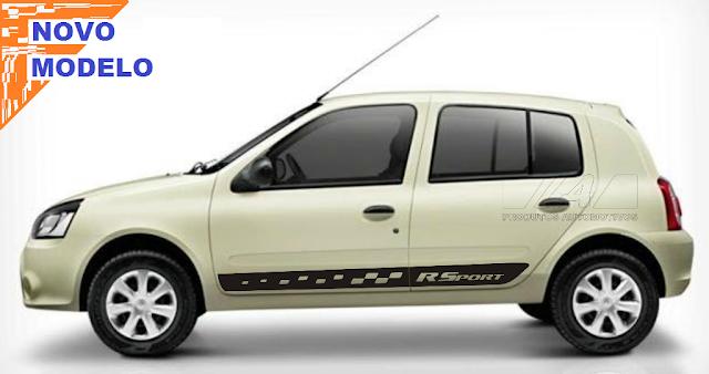 Kit adesivo tuning Renault Clio X11Auto Laura Adesivos peças acessórios 2015 2016 lançamento