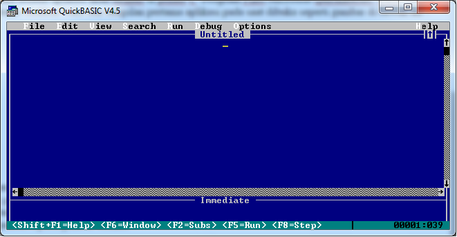 qbasic2 - Membuat Jadwal Hello World Dengan Aplikasi Quick Basic