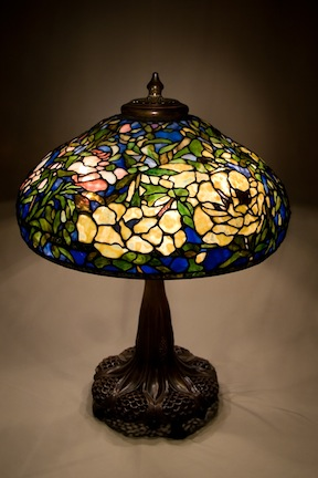 "22"" Tiffany Reproduction Elaborate Peony"