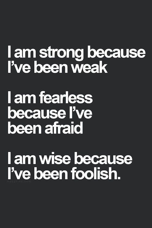 Weak, afraid and foolish...