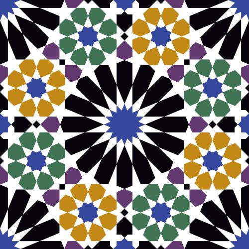 Patrón árabe de la Alhambra