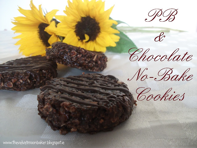 PB &amp; Chocolate No Bake Cookies