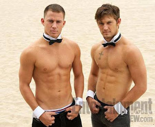 Channing Tatum, Alex Pettyfer shirtless for Magic Mike