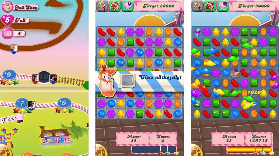 candy crush saga android screenshot