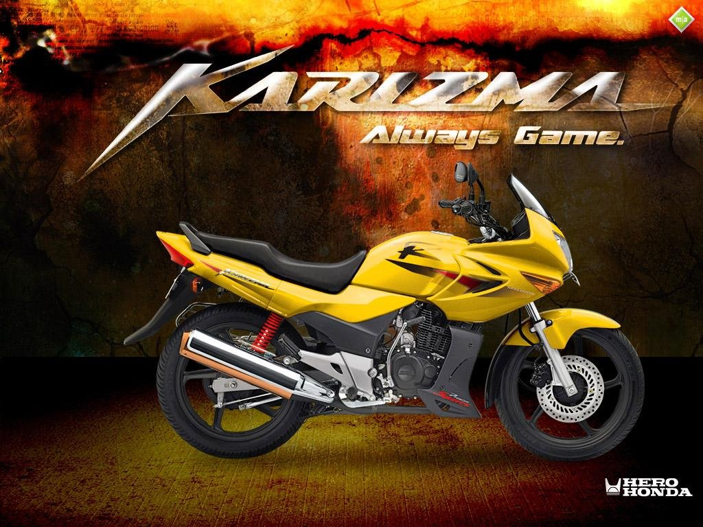 Latest bike  Hero Honda Karizma ZMR bike pictures