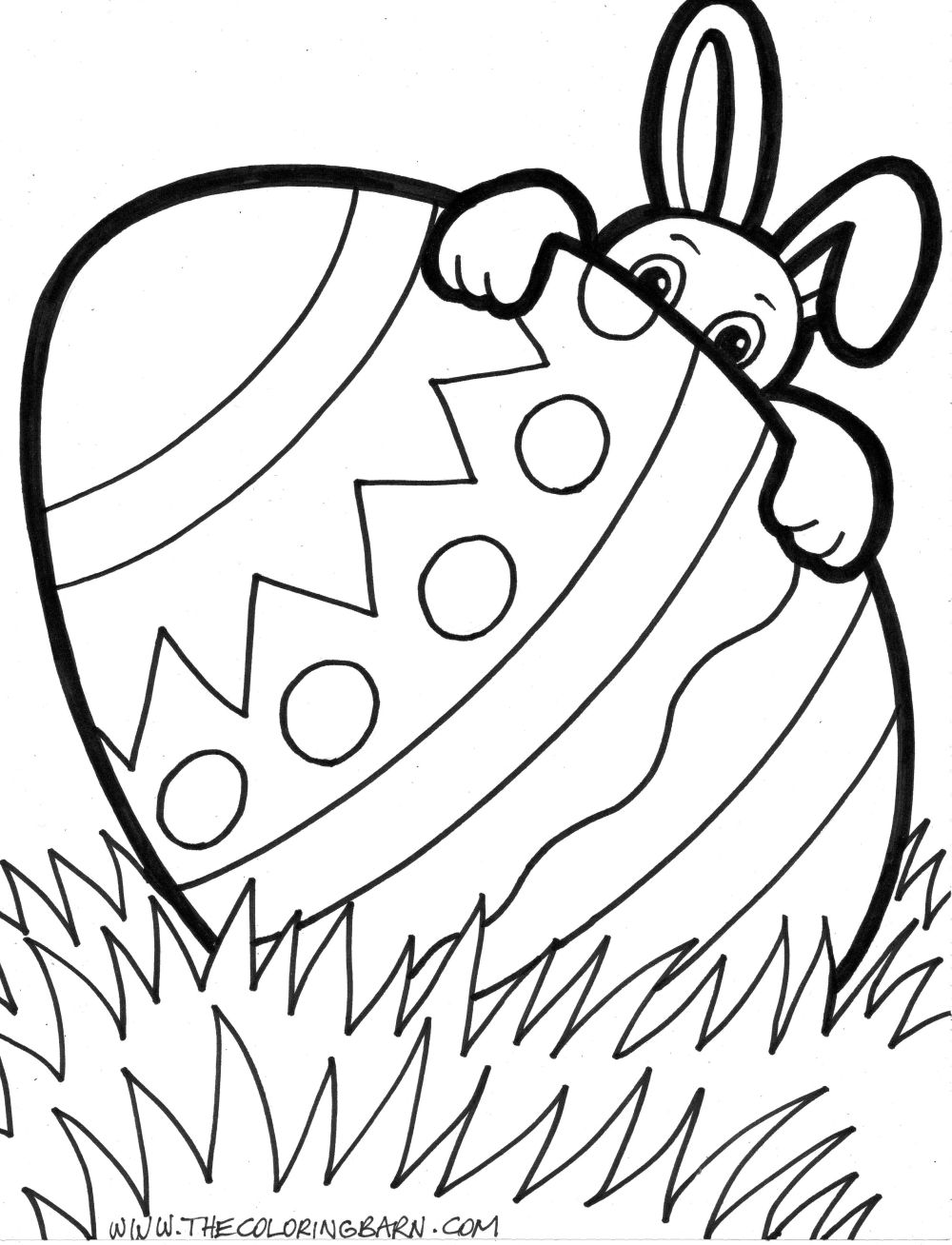 easter coloring pages easter bunny - photo#35