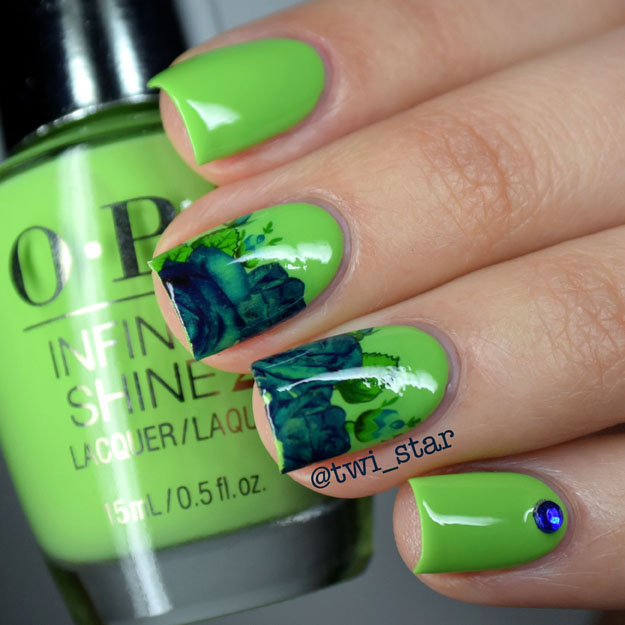 OPI Infinite Shine To The Finish Lime polish swatch