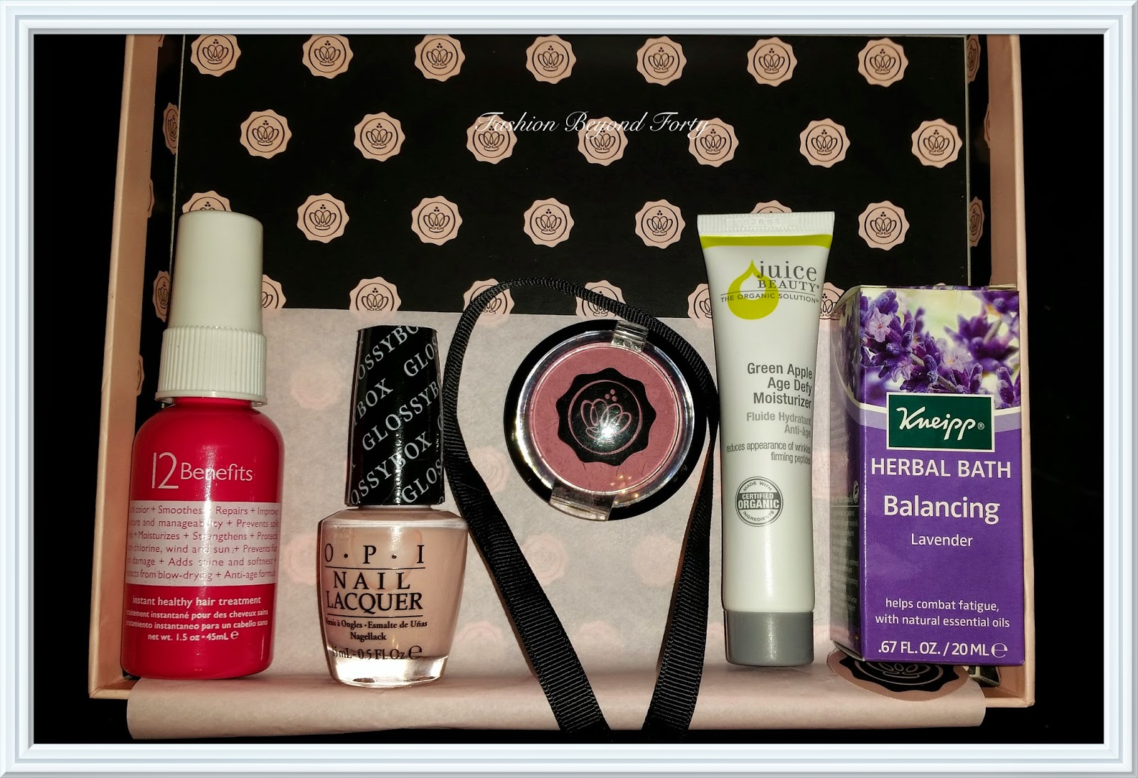 Glossybox Review November 2013 Fashion Beyond Forty