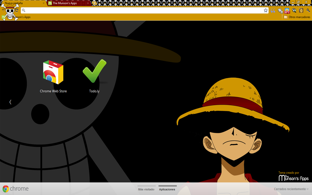 Luffy Chrome Theme