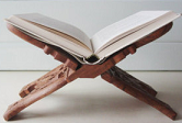 wooden folding book stand