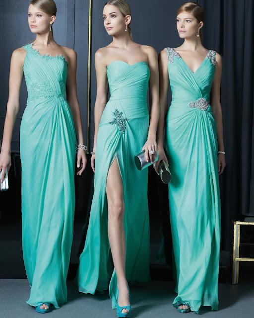 yeşil renk dantelli abiye modeli 2014, tek omuzi straplez modeller