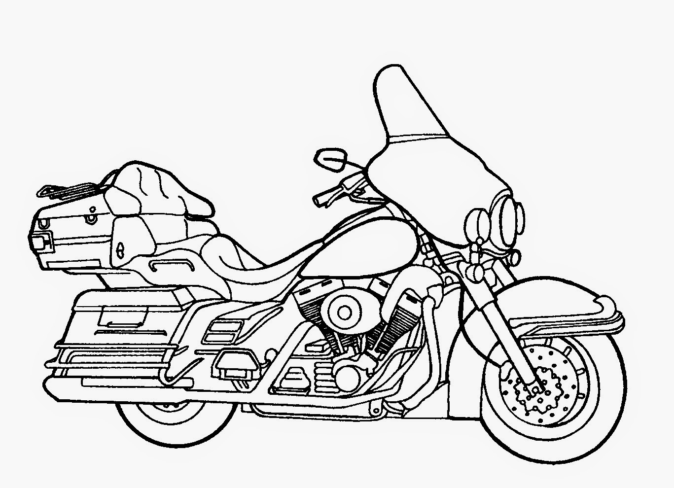 Motorcycle Coloring Page Free wallpaper
